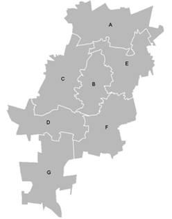 Map of SA