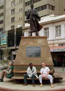Ghandi's statue in Ghandi Square Central Joburg