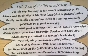 Pick of the Week on Liz at Lancaster's noticeboard