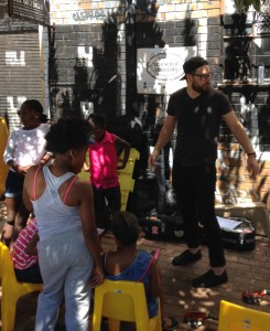 Saturday community sidewalk sessions in Maboneng