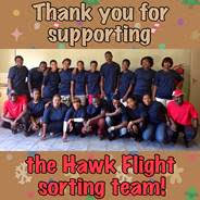 The Hawk Flight sorting team