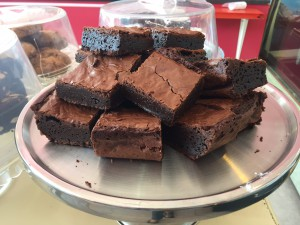 Andrea Burgener the demi-goddess of Melville's The Leopard, said she has met her match when it comes to brownie making! Some accolade!