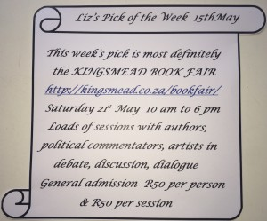 5 15 May Kingsmead Book Fair