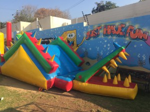 Jumping castle at AJ's in Craighall Park
