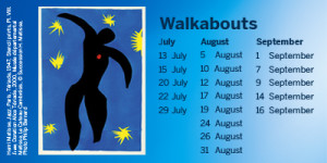 Programme of Matisse walkabouts
