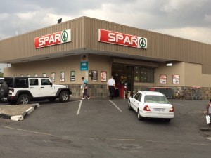 Spar Grocery store at the end of the block - 5 minute walk from Liz at Lancaster