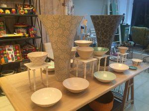 Loren Kaplan's ceramic vases and bowls