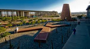 Conical monument contains the 10 principals of the Freedom Charter engraved in Bronze Source Gauteng.net