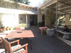 Courtyard and garden venue for hire with access to kitchen