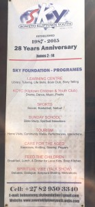 SKY Foundation started in 1987