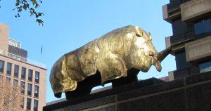 Main St: Replica of golden rhino from Mapungubwe