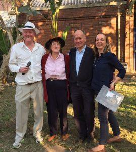 L to R: David Gurney, Kathy Munro, Clive Chipkin. Monika Läuferts-Le Roux