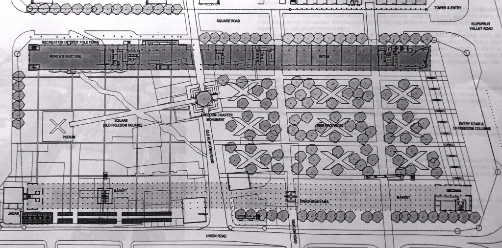 Plan of core area from StudioMAS presentation to SA Heritage Resource Agency 2003