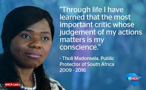 Madonsela proved to be one of the many extraordinary South Africans who worked tirelessly, ethically and courageously in public office. She will be sorely missed. Source : ENCA