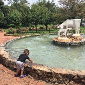 Coins into the fountain - small children's idea of heaven