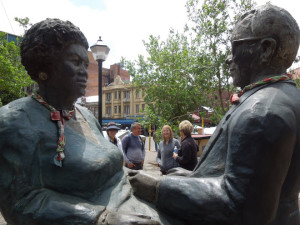 Sisulu sculpture closeup