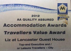 AA travellers value Award