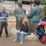 Sisulu sculpture by Marina Walsh in Diagonal St