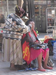 Kerk St open air mall - the home of hairstylists