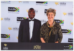 Zac and Liz at the 2016 National Lilizela Awards