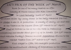 Liz's Pick of the Week