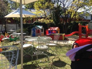 Serendipity offers light meals and drinks and has great playground area