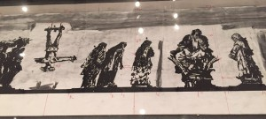 Preparatory layout on exhibition at Macro showing positioning of figures in frieze