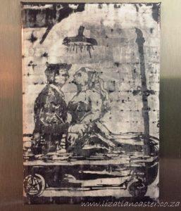 Kentridge Fridge magnet Rome Tiber mural