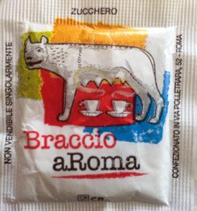 Sugar packet from Caffe Braccio