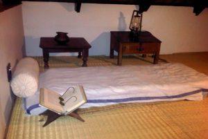 Gandhi's bed . Source: Liz at Lancaster Guesthouse