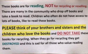 Book Box Sign