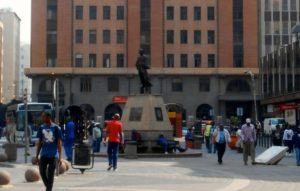Gandhi Square Statue