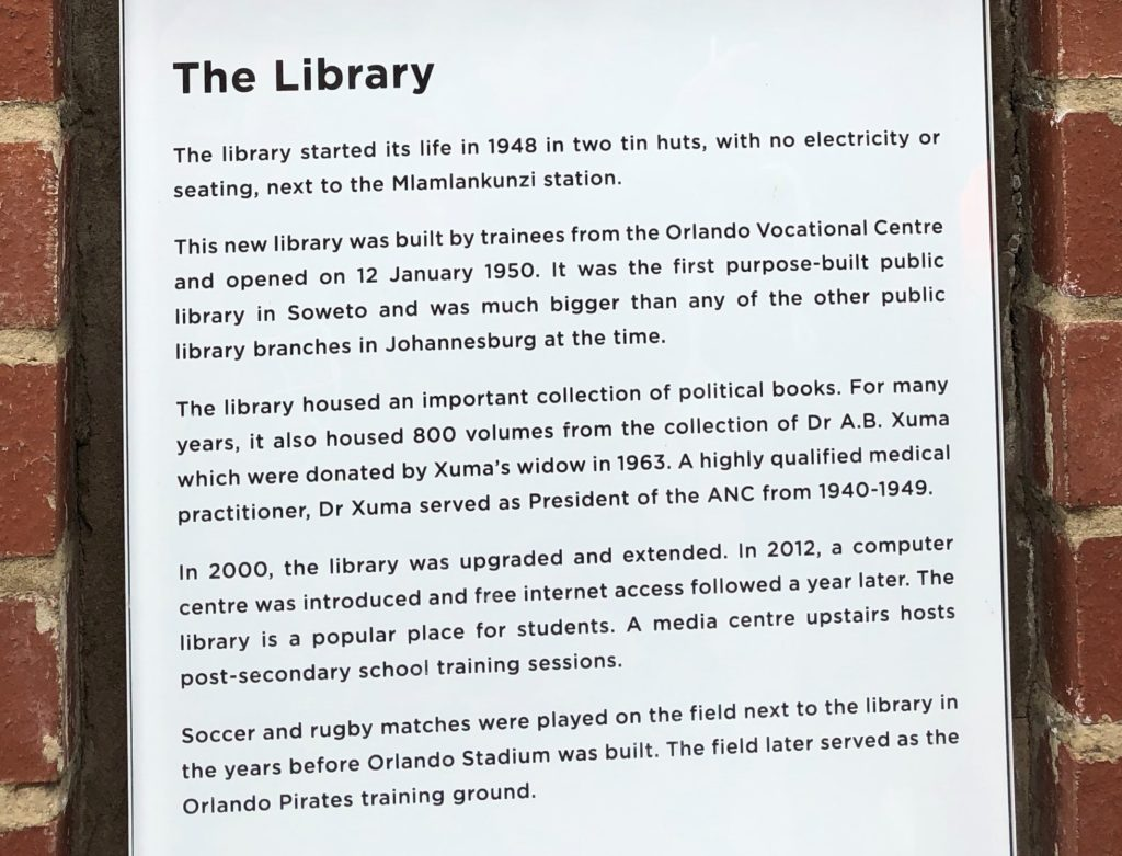 History of Soweto's First Library