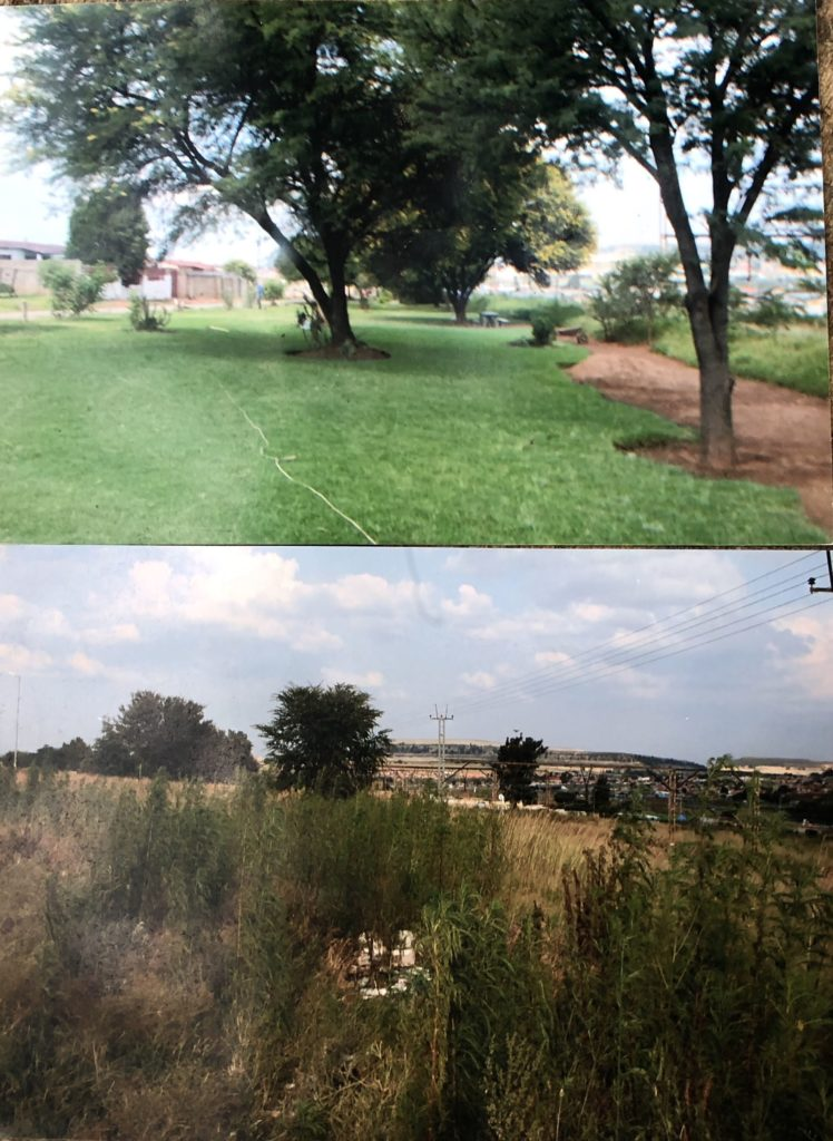 Ubuhle Bezure Park. How's this for before and after views? (Bugs me that I put the 'after' photo at the top!) Source: wwwlizatlancaster.co.za