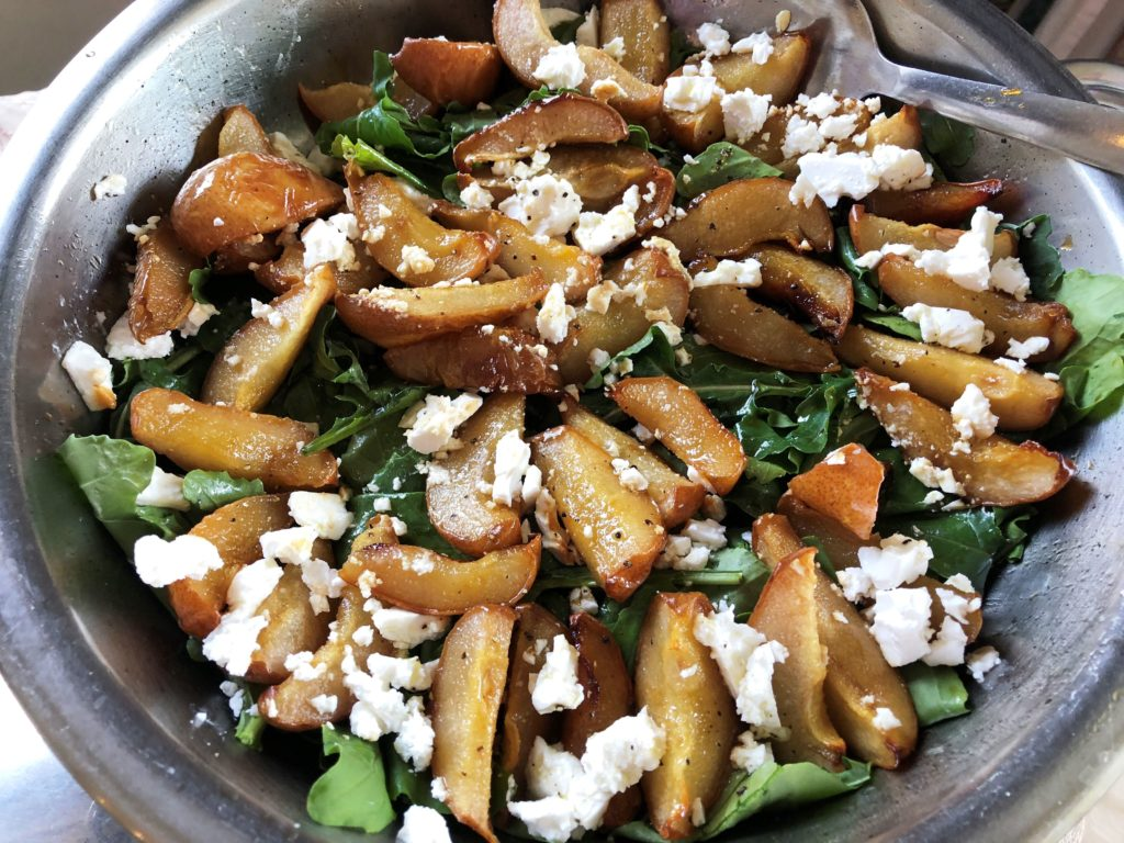 Rocket, Feta and Roasted Pear Salad